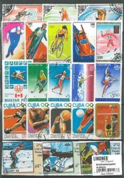 Briefmarkenpaket: Olympiade (100 Briefmarken)