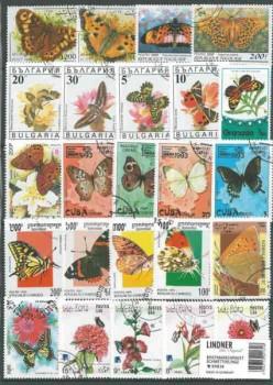 Briefmarkenpaket: Schmetterlinge (100 Briefmarken)