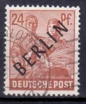 Berlin 1948, Mi.Nr. 9 Schwarzaufdruck, Gestempelt