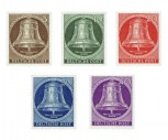 Berlin 1953 Nr. 101-105, Freiheitsglocke Postfrisch
