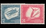 DDR 1951, Mi.Nr. 280-281, Wintersport, Postfrisch
