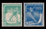 DDR 1952, Mi.Nr. 298-299, 3. Wintersportmeisterschaften Oberhof, Postfrisch