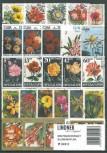 Briefmarkenpaket: Blumen und Pflanzen (100 Briefmarken)