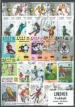 Briefmarkenpaket: Fußball  (100 Briefmarken)