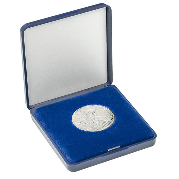 Lindner Münz-Etui mit blauer Velourseinlage für Münzen/Münzkapseln in 15 verschiedenen Größen