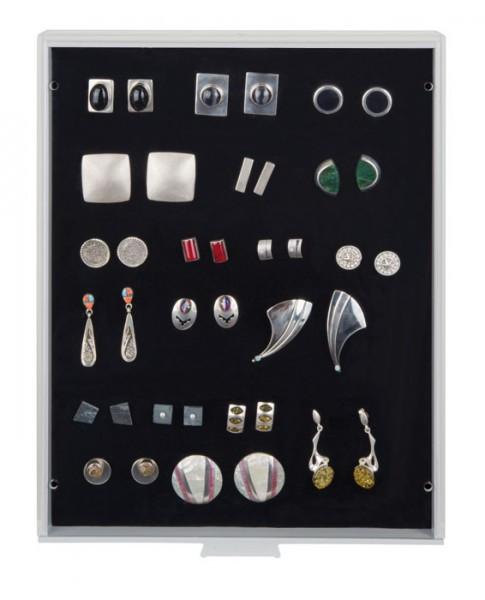 Lindner Sammelbox STANDARD mit schwarzer Schaumstoffeinlage für PINs / Orden / Abzeichen