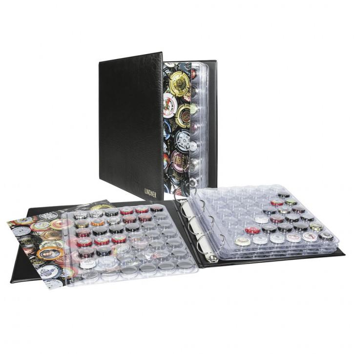 Lindner Champagner-Kapsel-Album inkl. 5 Champagner-Kapsel-Blättern für 210 Champagner-Kapseln