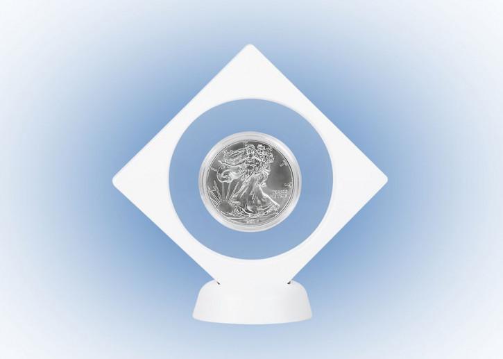 LINDNER Objektrahmen NIMBUS NEMO, mit rundem Ausschnitt Ø 75 mm, weiß