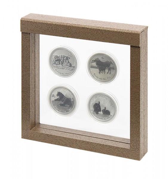 LINDNER Objektrahmen NIMBUS 150, Rahmeninnenmaße 150 x 150 mm, Holzdekor