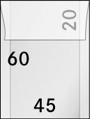 Pergamin-Tüten, 45 x 60 + 20 mm, 100er-Packung