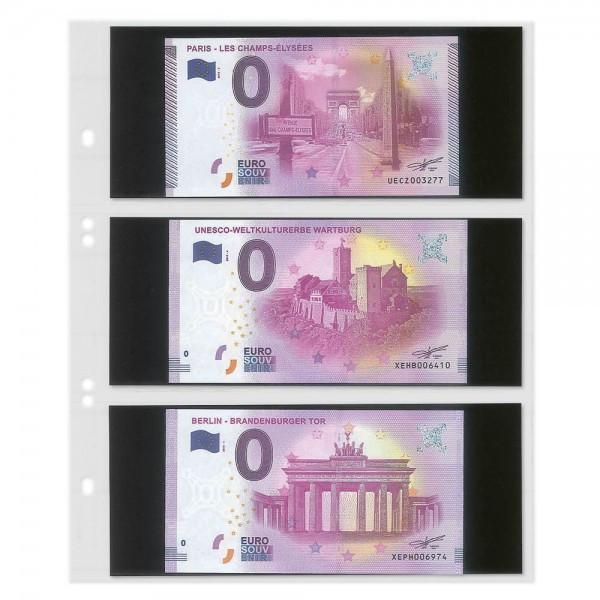Multi collect Blätter mit 3 Taschen für 0-Euro Souvenirscheine, 10er-Packung