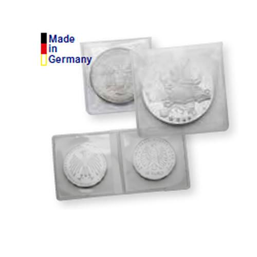 Münz-Hüllen aus glasklarer PVC-Folie, 50 x 50 mm